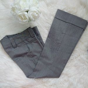 SPACEGIRLZ grey flare cuffed dress pant trousers